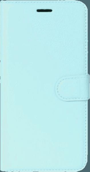 Nokia 8 oldalra nyíló flipes bőrtok asztali tartó funkciós világoskék