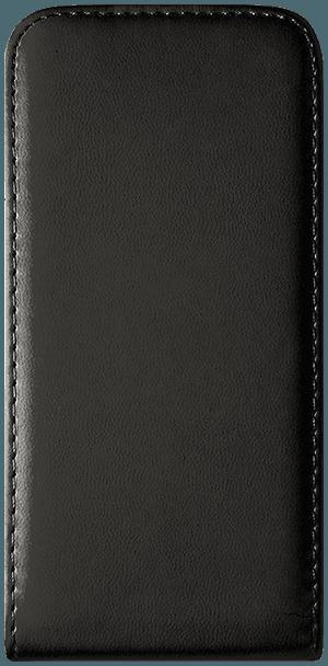 Nokia 8 Dual lenyíló flipes bőrtok szilikon tartó fekete
