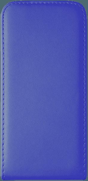 Samsung Galaxy S6 (G920) lenyíló flipes bőrtok  kék