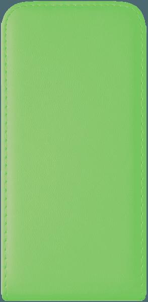 Samsung Galaxy S6 (G920) lenyíló flipes bőrtok  zöld