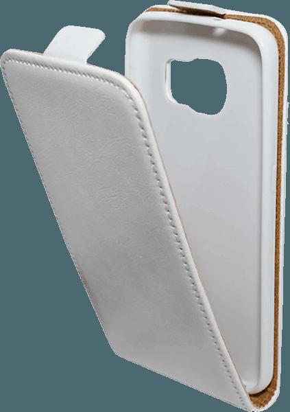 Samsung Galaxy S7 (G930) lenyíló flipes bőrtok  fehér