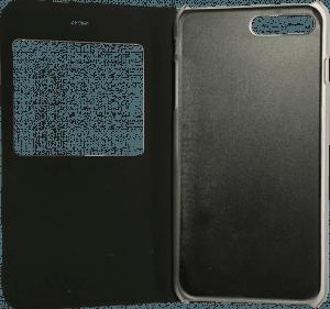Apple iPhone 8 Plus oldalra nyíló flipes bőrtok  fekete