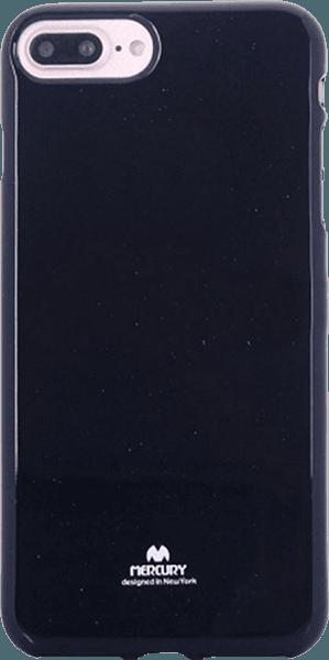Apple iPhone 8 Plus szilikon tok csillámporos fekete