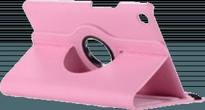 Huawei MediaPad M5 8.4 LTE oldalra nyíló flipes bőrtok 360° ban forgatható rózsaszín