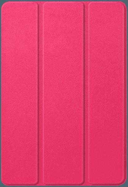 Huawei MediaPad M5 10.8 WIFI oldalra nyíló flipes bőrtok TRIFOLD asztali tartó funkció magenta
