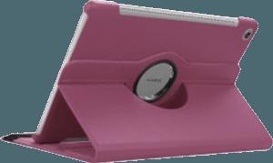Huawei MediaPad M5 10.8 LTE oldalra nyíló flipes bőrtok 360° ban forgatható lila