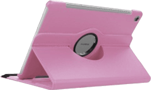 Huawei MediaPad M5 10.8 WIFI oldalra nyíló flipes bőrtok 360° ban forgatható rózsaszín