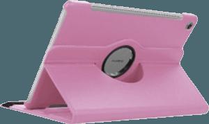 Huawei MediaPad M5 10.8 LTE oldalra nyíló flipes bőrtok 360° ban forgatható rózsaszín