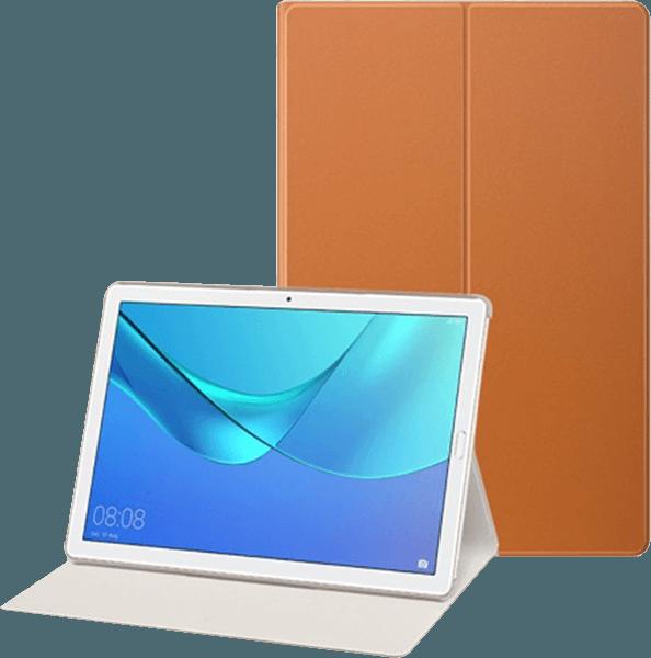 Huawei MediaPad M5 10.8 LTE oldalra nyíló flipes bőrtok aktív flip barna