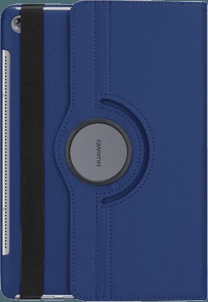 Huawei MediaPad M5 10.8 LTE oldalra nyíló flipes bőrtok 360° ban forgatható sötétkék