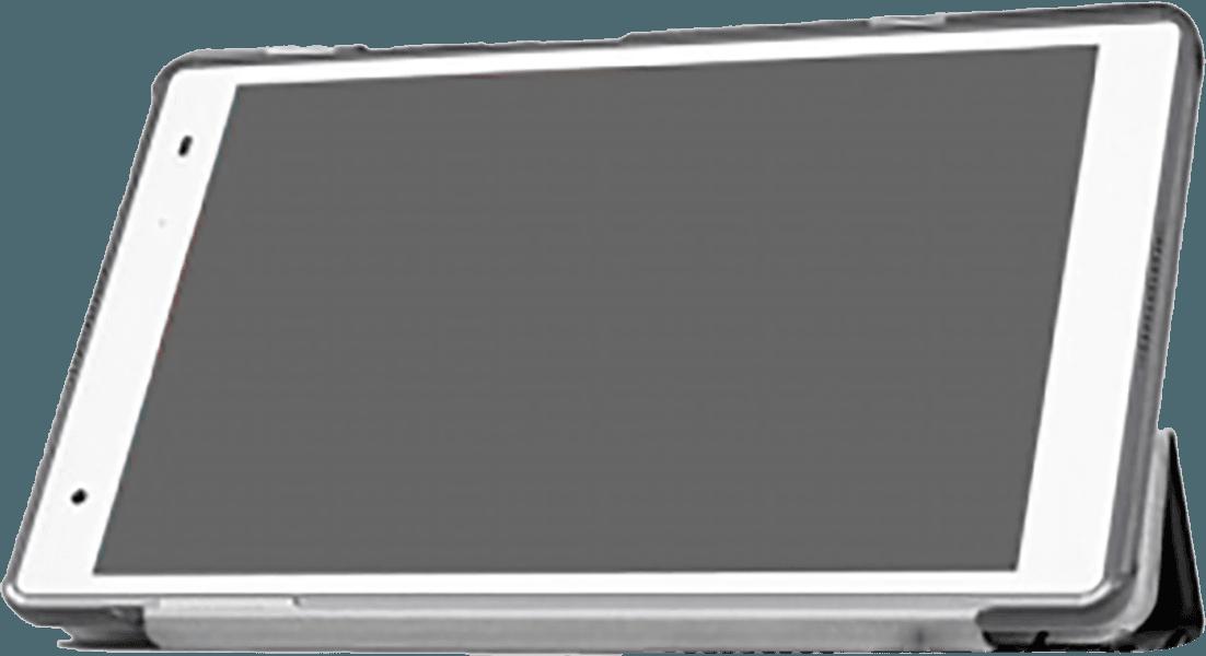 Lenovo Tab 4 8 oldalra nyíló flipes bőrtok TRIFOLD asztali tartó funkció fekete