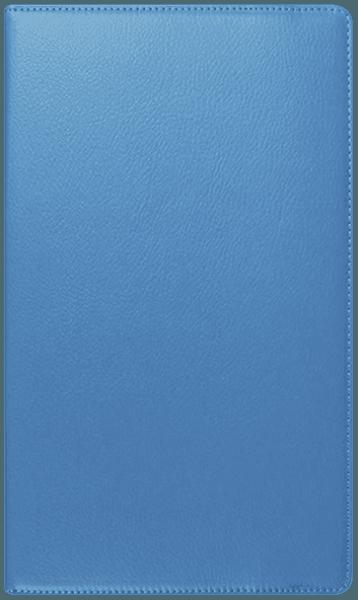 Huawei MediaPad T3 8 LTE oldalra nyíló flipes bőrtok 360° ban forgatható világoskék