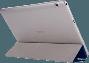 Huawei MediaPad T3 10 Wifi oldalra nyíló flipes műanyag tok bőr flip sötétkék