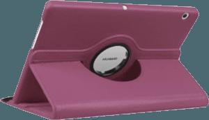 Huawei MediaPad T3 10 LTE oldalra nyíló flipes bőrtok 360° ban forgatható lila