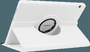 Huawei MediaPad T3 10 Wifi oldalra nyíló flipes bőrtok 360° ban forgatható fehér
