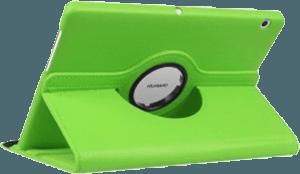 Huawei MediaPad T3 10 Wifi oldalra nyíló flipes bőrtok 360° ban forgatható világoszöld