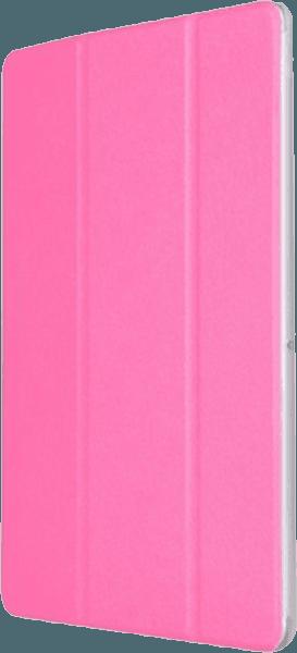 Huawei MediaPad T3 10 Wifi oldalra nyíló flipes műanyag tok asztali tartó funkciós magenta