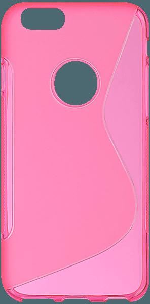 Apple iPhone 6 szilikon tok s-line logó kihagyós rózsaszín