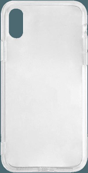 Apple iPhone XS kemény hátlap szilikon keret átlátszó