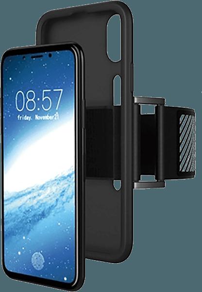 Apple iPhone XS sport tok fényvisszaverő csík fekete