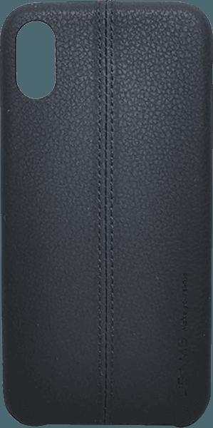 Apple iPhone XS kemény hátlap gyári USAMS varrás mintás fekete