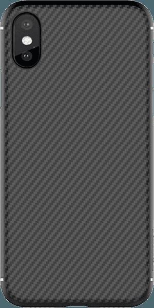 Apple iPhone XS kemény hátlap gyári NILLKIN karbon mintás fekete