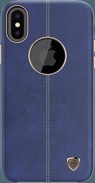 Apple iPhone X kemény hátlap gyári NILLKIN logó kihagyós kék