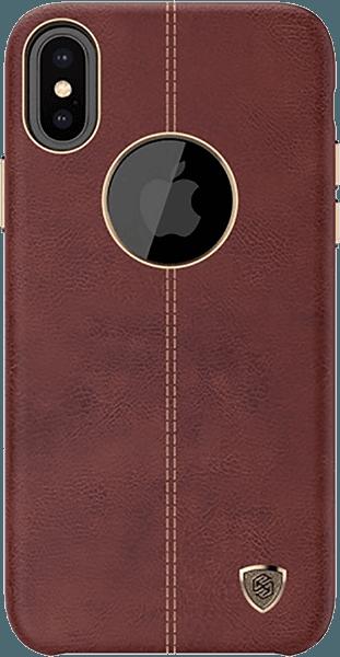 Apple iPhone X kemény hátlap gyári NILLKIN logó kihagyós barna