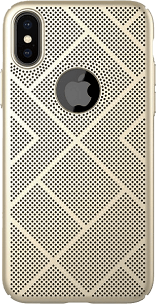 Apple iPhone X kemény hátlap gyári NILLKIN logó kihagyós arany