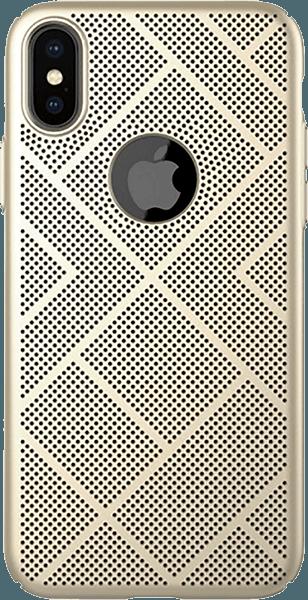 Apple iPhone XS kemény hátlap gyári NILLKIN logó kihagyós arany
