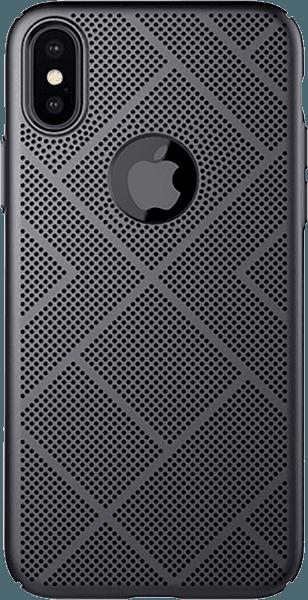 Apple iPhone XS kemény hátlap gyári NILLKIN logó kihagyós fekete