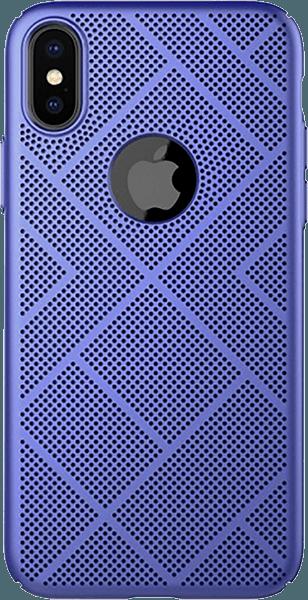 Apple iPhone XS kemény hátlap gyári NILLKIN logó kihagyós kék
