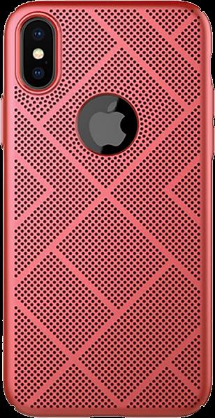 Apple iPhone X kemény hátlap gyári NILLKIN logó kihagyós piros