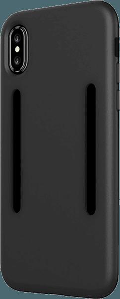 Apple iPhone X szilikon tok közepesen ütésálló fekete