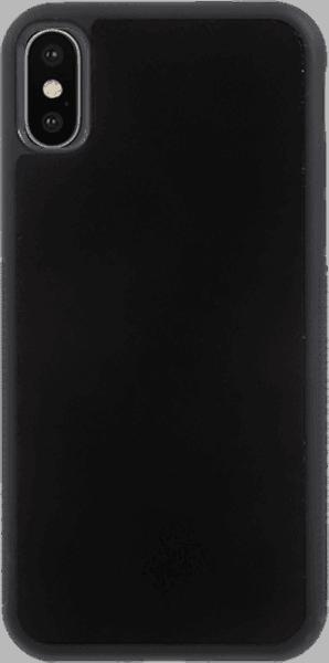 Apple iPhone XS kemény hátlap szilikon belső fekete