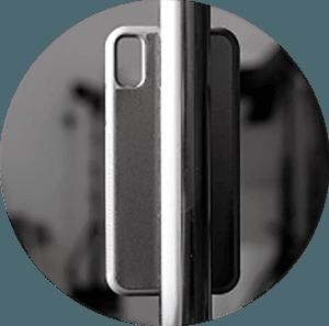 Apple iPhone X kemény hátlap szilikon belső fekete