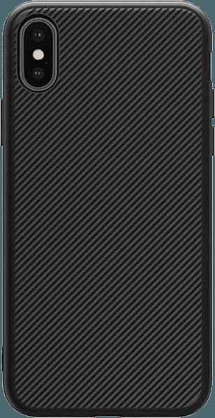 Apple iPhone XS kemény hátlap gyári NILLKIN szilikon keret fekete