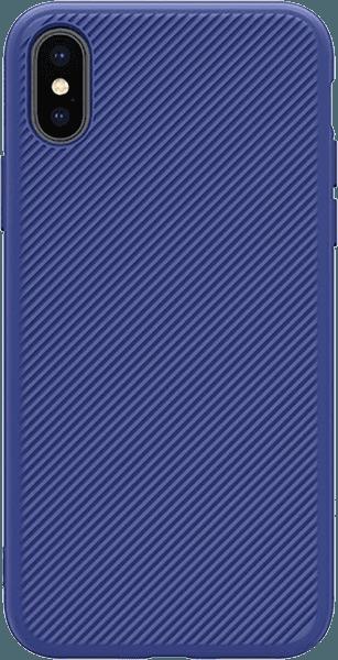 Apple iPhone X kemény hátlap gyári NILLKIN szilikon keret kék