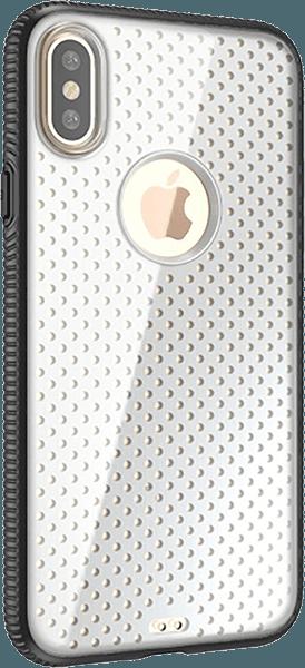Apple iPhone X kemény hátlap logó kihagyós fekete