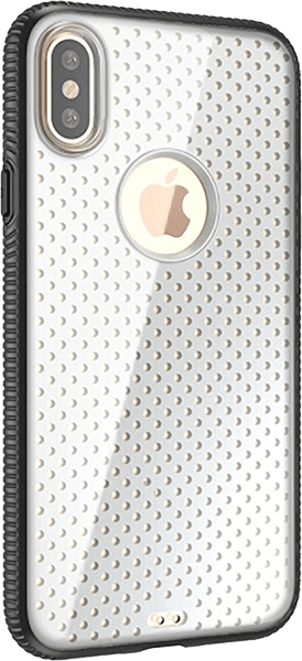 Apple iPhone XS kemény hátlap logó kihagyós fekete