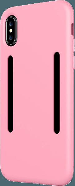 Apple iPhone X szilikon tok közepesen ütésálló rózsaszín