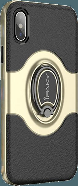 Apple iPhone X kemény hátlap gyári IPAKY 360° ban forgatható arany