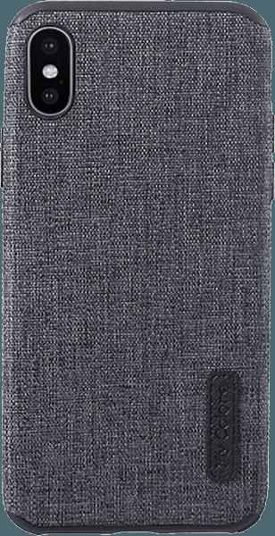 Apple iPhone X szilikon tok textil bevonatú fekete