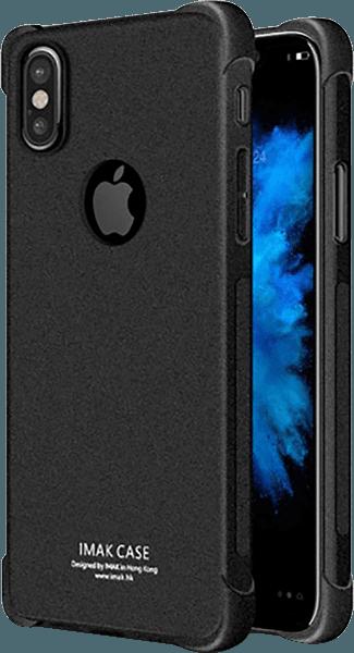Apple iPhone X ütésálló tok gyári IMAK légpárnás sarok logó kihagyós fekete