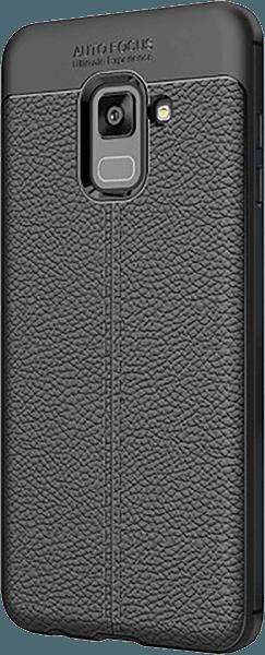 Samsung Galaxy A8 2018 (A530) kemény hátlap varrás mintás fekete