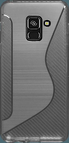 Samsung Galaxy A8 2018 (A530) szilikon tok karbon mintás átlátszó