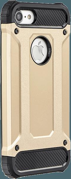Apple iPhone 5S ütésálló tok légpárnás sarkas, hibrid Forcell Armor logó kihagyós arany