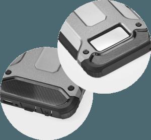 Apple iPhone 6 Plus ütésálló tok légpárnás sarkas, hibrid Forcell Armor logó kihagyós szürke