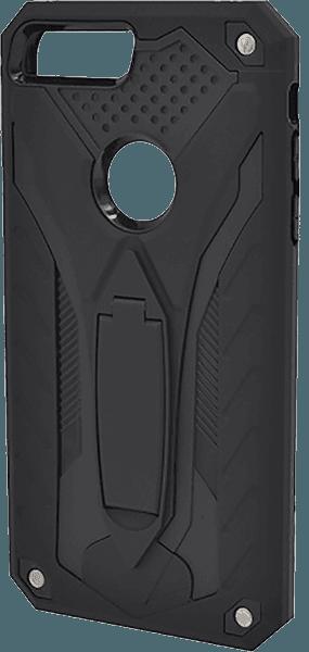 Apple iPhone 8 Plus ütésálló tok  kitámasztóval logó kihagyós fekete