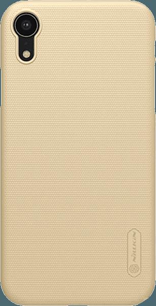 Apple iPhone XR kemény hátlap gyári NILLKIN gumírozott-érdes felületű arany